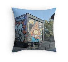 THE PAINTED TRUCK Throw Pillow
