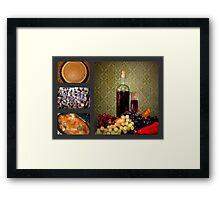 Italian Turkey Dinner Collage Framed Print