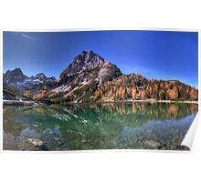 Mountainous Reflection Poster