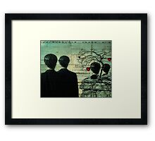 Homage To Magritte Framed Print