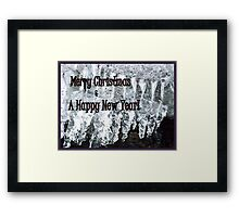 Ice and Tingle Bells for Christmas Framed Print