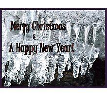 Ice and Tingle Bells for Christmas Photographic Print