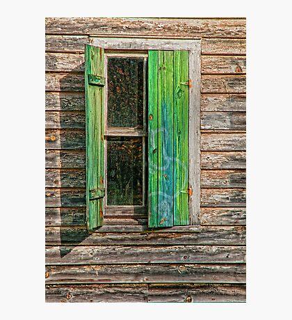 HALF SHUTTERED WINDOW Photographic Print