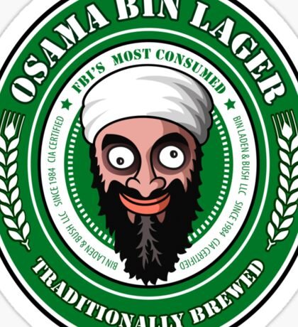 Osama Bin Lager Sticker