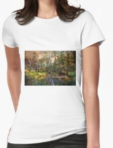 Hopkins Pond, Haddonfield, N.J. Womens Fitted T-Shirt