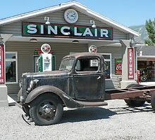 Vintage Truck at Vintage Sinclair Station by Martha Sherman