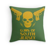 The Guns of South Jersey Throw Pillow