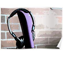 classic headphones  Poster