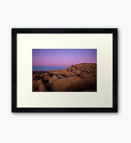 Sunset at Joshua Tree 6065 Framed Print