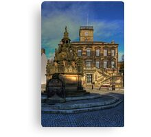 Town House and Well Canvas Print