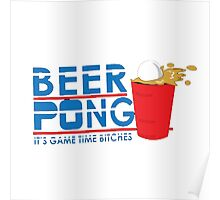 beer pong game Poster