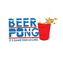beer pong game Photographic Print
