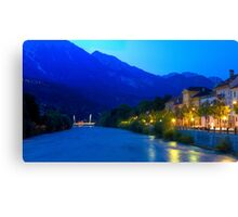Night on the Inns River Canvas Print