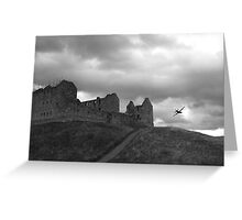 Ruthven Barracks and Hercules Greeting Card