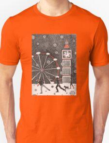 Snowball fighting in London Unisex T-Shirt