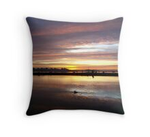 Across The Millpond - In Colour Throw Pillow