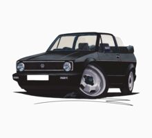 VW Golf (Mk1) Cabriolet Black T-Shirt