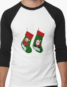 Xmas Stockings  Men's Baseball ¾ T-Shirt
