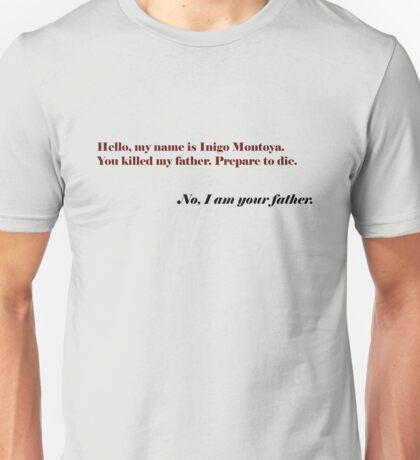 Inigo Vader Unisex T-Shirt