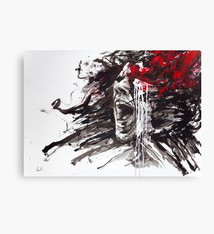 """The Pain of Cluster Headache"" by Agnes-Cecile Canvas Print"