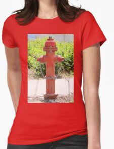 Red Fire Hydrant Womens Fitted T-Shirt