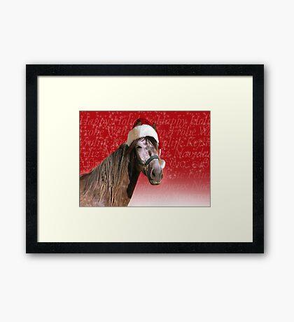 Ho-ho-ho Horse  Framed Print