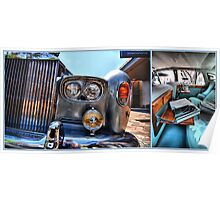 Rolls Royce Silver Shadow: detail & interior Poster