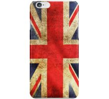 UK Flag - Battleworn iPhone Case/Skin