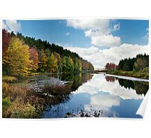 Beautiful Autumn Reflection Landscape Poster