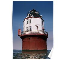 """""""Point No Point Lighthouse"""" Chesapeake Bay, Maryland 1997 Poster"""