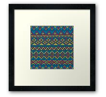 Seamless abstract geometric pattern Framed Print