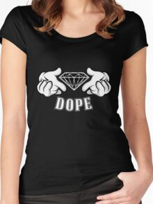 Diamond Hands DOPE Women's Fitted Scoop T-Shirt