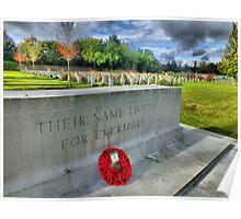 Their Name Liveth For Evermore - HDR Poster