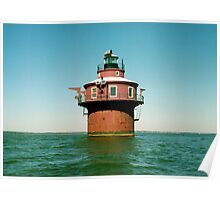 Craighill Channel Lower Range Front Lighthouse. Chesapeake Bay, Maryland. USA. Poster