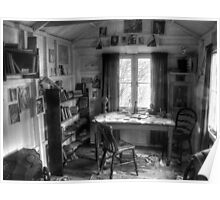 The Writing Shed - Dylan Thomas Poster