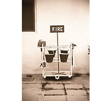 Fire buckets, Udaipur, City Palace Photographic Print
