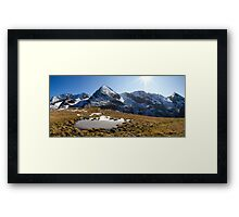 Tux Alps Framed Print