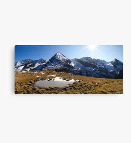 Tux Alps Canvas Print