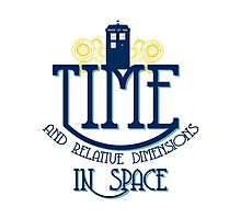TARDIS - TIME AND RELATIVE DIMENSIONS Photographic Print
