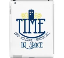 TARDIS - TIME AND RELATIVE DIMENSIONS iPad Case/Skin