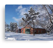 Landis Valley Fire House Winter Canvas Print