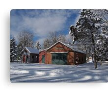 Landis Valley Fire House Winter 2 Canvas Print