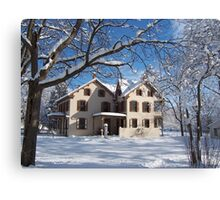 Landis Valley Brothers House Winter Canvas Print