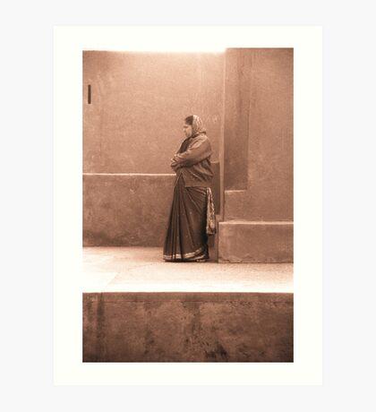 Attendant at the Jalar Mantar, New Delhi Art Print