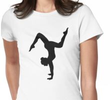 Floor exercises Womens Fitted T-Shirt