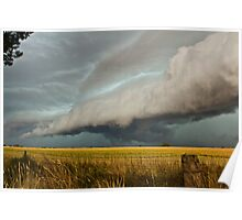 HP storm cell, Urana Plains, N.S.W Poster