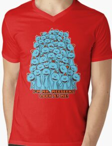 Mr. Meeseeks - Rick and Morty Mens V-Neck T-Shirt