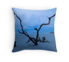 Beach Trees Throw Pillow