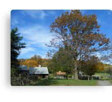 Landis Valley Fall Log Cabin Canvas Print