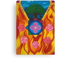 Mandala das rosas Canvas Print